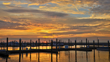 Docks on Lake Okeechobee at Sunrise